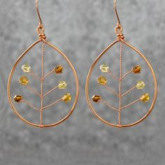 Bridal gifts dangle earrings statement earrings Free US Shipping Copper textured hammered boho jewelry Hoop earrings handmade jewelry