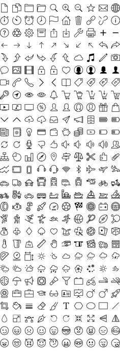280 Free iOS7 Icons Vector Pack - Free Vector Site | Download Free Vector Art, Graphics                                                                                                                                                                                 Más