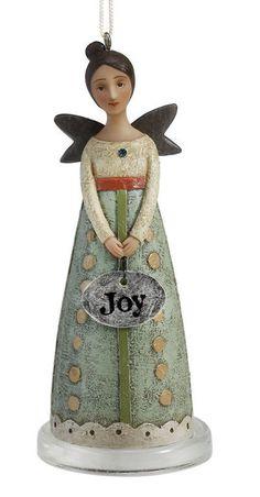 Kelly Rae Roberts Sculpted Angel Ornament-Joy