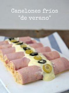"Canelones fríos ""de verano"" Fresh ham rolls filled with tuna   Cuuking!"
