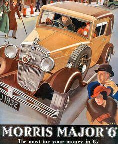 Morris Major 6 Model 1932 - www.MadMenArt.com | Vintage Cars Advertisement…