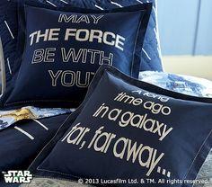 "Star Wars Pillow Shams from Pottery Barn Kids - ""A long time ago in a galaxy far, far away..."""