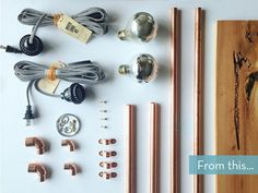 How to: Easy DIY Copper Pipe Wall Sconce