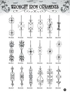 Decorative wrought iron ornamental iron gate fence railings staircase part