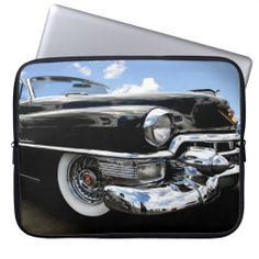Neoprene Laptop Sleeve Retro Car Photo Cover