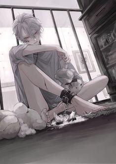 White Hair Anime Guy, Dark Anime Guys, Cool Anime Guys, Hot Anime Boy, Anime Art Girl, Cute Anime Character, Character Art, Manhwa, Anime Boy Sketch