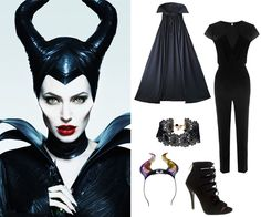 halloween: Maleficent fantasias malevola The Lazy Girl's Guide to the 10 Best 2014 Pop Culture Halloween Costumes Maleficent Halloween Costume, Disney Villain Costumes, Maleficent Cosplay, Pop Culture Halloween Costume, Halloween Outfits, Diy Maleficent Horns, Maleficent Makeup, Girl Halloween, Disney Cosplay