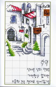 Palace Of Embroidery Cross Stitch House, Cross Stitch Charts, Cross Stitch Designs, Cross Stitch Patterns, Cross Stitching, Cross Stitch Embroidery, Embroidery Patterns, Hand Embroidery, Cross Stitch Landscape