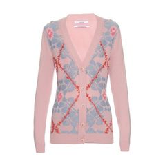 Barrie Smooth Ride textured-knit cardigan (1,275 CAD) ❤ liked on Polyvore featuring tops, cardigans, pink multi, cardigan top, light pink crop top, pink top, floral cardigan et floral top