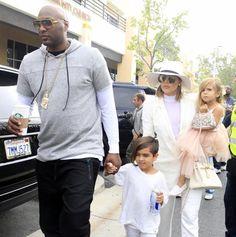 Lamar Odon with Kloe Kardashian an Easter Sunday. March 29, 2016.