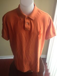 New to MajorDivision on Etsy: Vintage Orange Big Pony Polo By Ralph Lauren Polo (25.00 CAD)