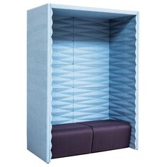 Wall Open Pod is an award-winning office booth constructed with a panel configuration. The Open Pod is available in a broad range of fabrics. Office Pods, Repurposing, Biodegradable Products, Pattern Design, Upholstery, Recycling, Awards, Fabrics, Range