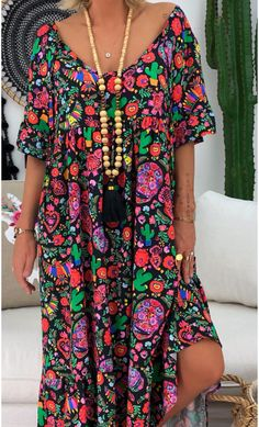 Material: Polyester Silhouette: A-Line Dress Length: Mid-Calf Sleeve Length: Short Sleeve Combination Type: Single Closure:. Half Sleeve Dresses, Dresses With Sleeves, Dress Outfits, Casual Dresses, Maxi Dresses, Cheap Summer Dresses, Maxi Robes, Frack, Colorblock Dress