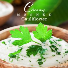 Mashed cauliflower is creamy and comforting, but low in both carbs and calories.  #mashedcauliflower #creamy #lowcalorie