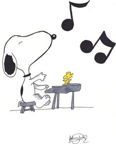 I always thought Snoopy was one talented dog. And that Woodstock sure could cut a rug. Snoopy and Woodstock are Charles Schulz snoopy music Arte Do Piano, Piano Y Violin, Charlie Brown Y Snoopy, Charlie Brown Christmas, Peanuts Cartoon, Peanuts Snoopy, Peanuts Comics, Images Snoopy, Music Clipart