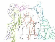 drawing poses - Drawing Tips Drawing Base, Manga Drawing, Figure Drawing, Drawing Sketches, Art Drawings, Drawing Tips, Poses Anime, Drawing Expressions, Poses References