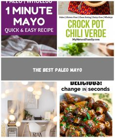 Whole30 1 Minute Mayo Recipe | The Movement Menu clean eating diet The Best Paleo Mayo Paleo Mayo, Dairy Free, Gluten Free, Clean Eating Diet, Chili Recipes, Quick Easy Meals, Whole30, Crockpot, The Best