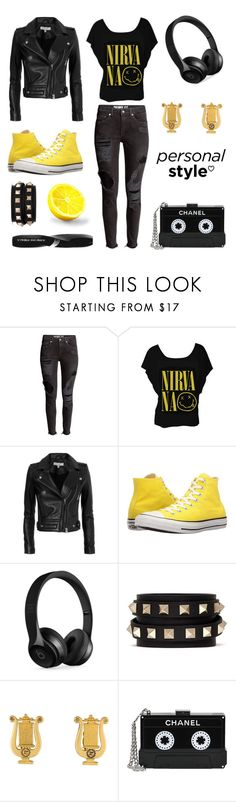 """Apollo Cabin: Casual"" by grungyandinbloom ❤ liked on Polyvore featuring H&M, IRO, Converse, Beats by Dr. Dre, Valentino, Karl Lagerfeld, Chanel and Physicians Formula"