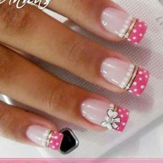 Nail Art Images and Tutorials: 5 creative nail art designs Creative Nail Designs, Creative Nails, Nail Art Designs, Fabulous Nails, Gorgeous Nails, Pretty Nails, Hot Nails, Pink Nails, Hair And Nails