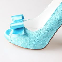 Hey, I found this really awesome Etsy listing at https://www.etsy.com/listing/185499399/turquoise-aqua-lace-bow-shoes-wedding