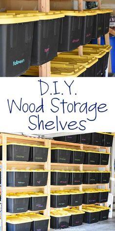 Save thousands building diy garage storage pinterest diy garage how to make wood storage shelves ceiling storagebasement storagewood shelves garagediy solutioingenieria Image collections