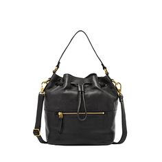 """Wishlisted: The """"IT"""" Bag of the Season, #Fossil Vickery Drawstring in black"""