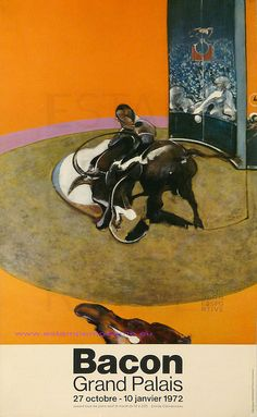 Francis Bacon  Grand Palais Expositon du Grand Palais 1972 Paris by estampemoderne.fr, via Flickr