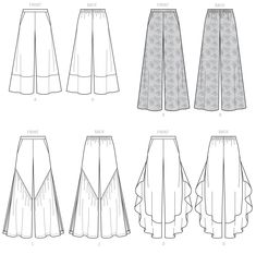 Loose-Fitting, Pull-On Pants, Culottes, Boho Chic Separates, Modern Fashion Sportswear – McCall's Sewing Pattern Loose-Fitting Pull-On Pants Culottes Boho Chic Separates Portfolio Mode, Fashion Portfolio, Flat Drawings, Flat Sketches, Easy Sewing Patterns, Mccalls Sewing Patterns, Modern Fashion, Trendy Fashion, Estilo Hippie