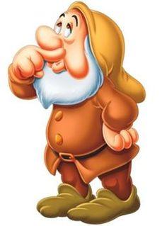 Sneezy - dwarf Snow White and the seven dwarfs Walt Disney movie animation enchanting fairytale.