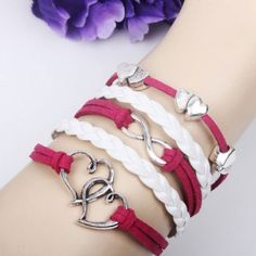 Romantic Soulmate Infinity Bracelet for only $9.90 ,cheap Fashion Bracelets - Jewelry&Accessories online shopping,Romantic Soulmate Infinity Bracelet is a perfect gift for her. Soulmate is the lover's heart. They are together forever!
