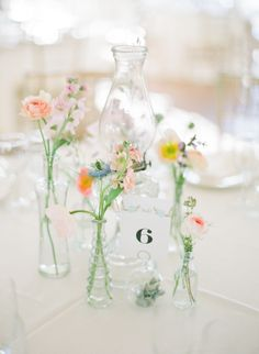 pretty colors against a white table cloth