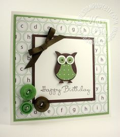 Stampin up mojo monday birthday card owl punch ideas