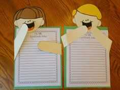 Cute writing craft idea for April Fool's Day- students write about a funny joke they would play.