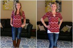 Pixley Leandro Chevron Stripe Henley Knit Shirt - Ooh, I already have a Pixley henley, but I really like this one, too!