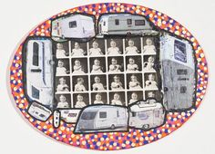 Damian Le Bas, Oval Traveller Baby I, 2010 Collages, It Works, Paintings, Artist, Travel, Stockings, Viajes, Paint, Painting Art