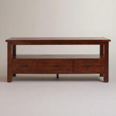 Brown Wood Harrow Media Stand | World Market | Living Room ...