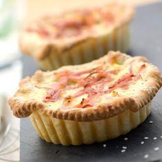 Tartelettes feuilletées au bacon
