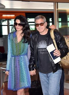 Amal and George Clooney, above, met up with Bono of U2 and old friends Rande Gerber and Cindy Crawford.