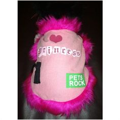 Rock Princess Pink Dog Coat / Jacket Fur Trimmed small velcro fastening Listing in the Clothing,Dogs,Pets,Home & Garden Category on eBid United Kingdom