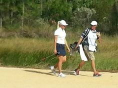 Suzie Petterson at 8th hole at LPGA