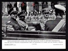 orig. WWII Press Photo - Goebbels and Alfieri arrived in Munich 1939 - Date of publication: 1939