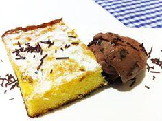 Tarta de Santiago con chocolate