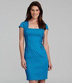 Adrianna Papell Jacquard Dress | Dillards.com