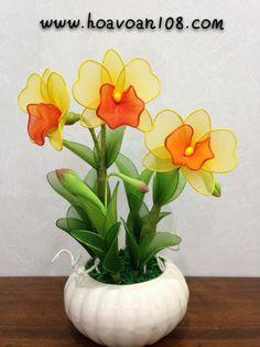 Handmade stocking flower #anggrek