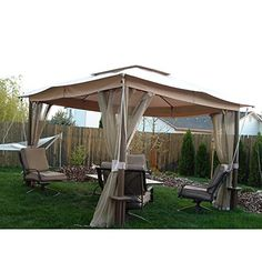 Open Box Replacement Canopy Top Cover For The Fred Meyer Pacific Casual 10 X 12 Gazebo Standard 350 C Gazebo Gazebo Replacement Canopy Replacement Canopy