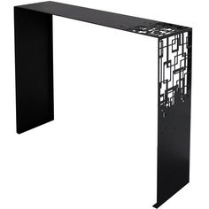 An elegant modern console table finished with black epoxy paint. Pair available Steel Furniture, Table Furniture, Cool Furniture, Sideboard Furniture, Cardboard Furniture, Design Furniture, Luxury Furniture, Contemporary Furniture, Diy Cnc