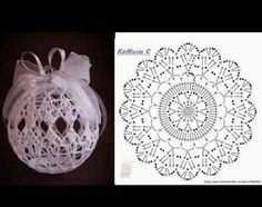 Ludmila Vodičková's 870 media content and analytics - Her Crochet Crochet Christmas Decorations, Crochet Decoration, Crochet Ornaments, Christmas Crochet Patterns, Holiday Crochet, Crochet Snowflakes, Christmas Baubles, Crochet Ball, Crochet Chart
