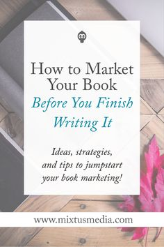 Authors need to start marketing their book when they start writing. Here are ideas, strategies and tips to jumpstart your book marketing so your book launch will be a success! Promote your book free Fiction Writing, Writing Advice, Start Writing, Writing Resources, Writing Help, Writing A Book, Writing Ideas, Writing Workshop, Writing Humor
