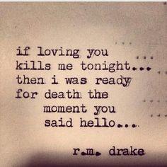 If loving you kills me tonight ~ WOW!!