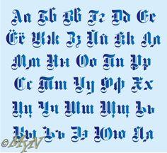 готический шрифт кириллица - Поиск в Google